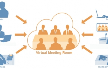 Picture of virtual meeting structure